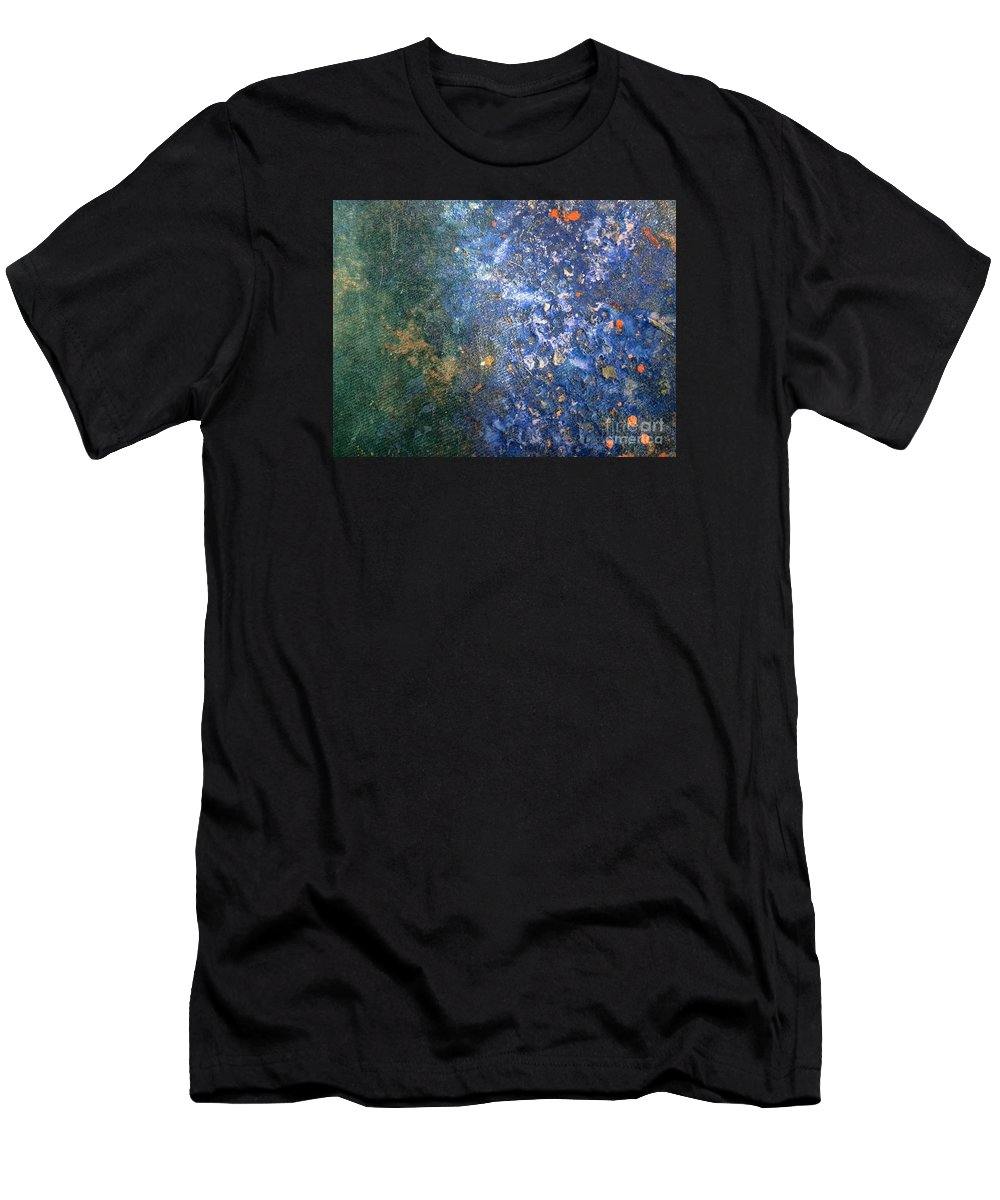 Abstract Art Men's T-Shirt (Athletic Fit) featuring the painting Movement Of Color Viii by Emir Salkic