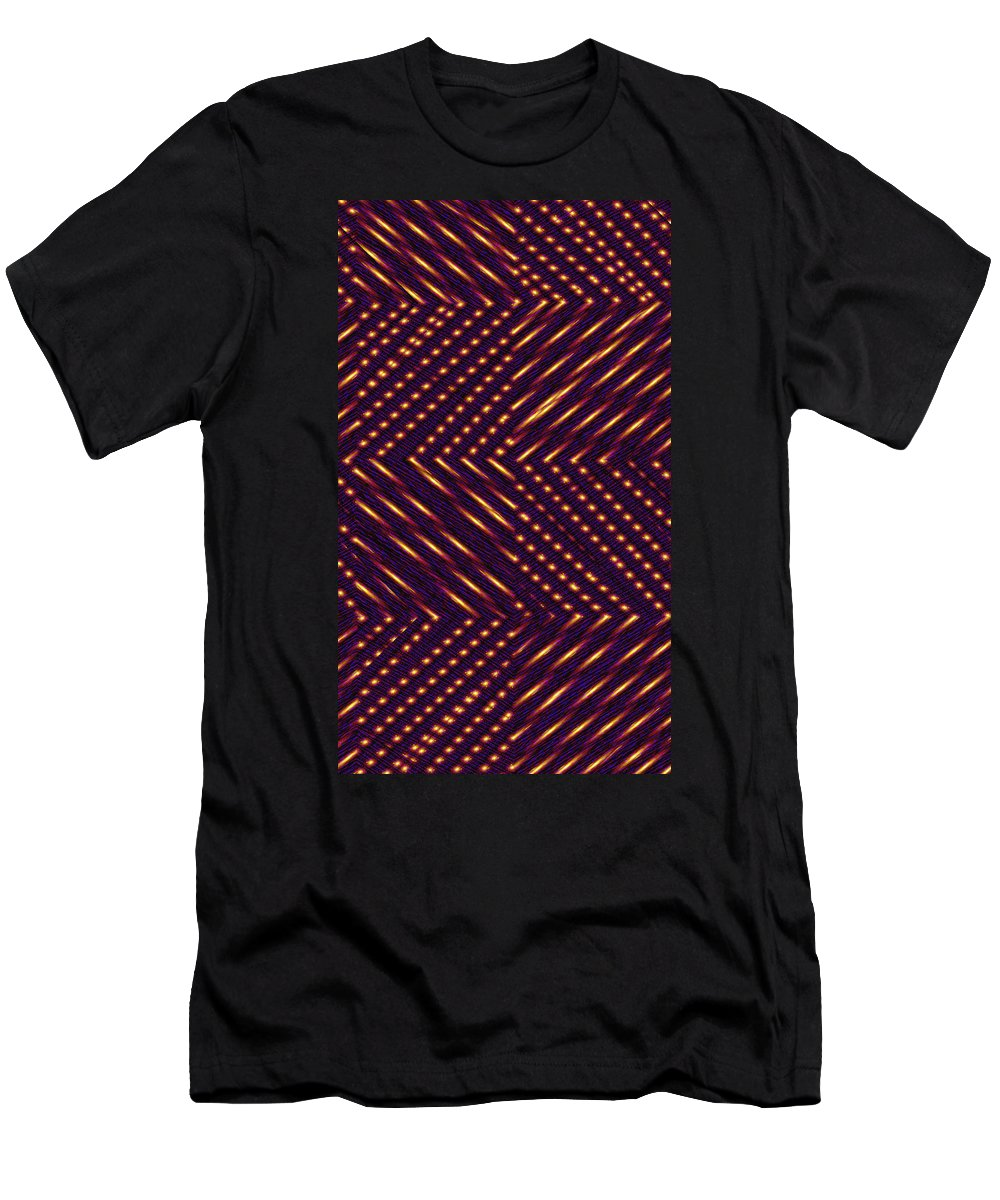 Moveonart! New York / San Francisco / Oklahoma / Portland / Missoula Jacob Kanduch Men's T-Shirt (Athletic Fit) featuring the digital art Moveonart Lite In Nite 1 by Jacob Kanduch
