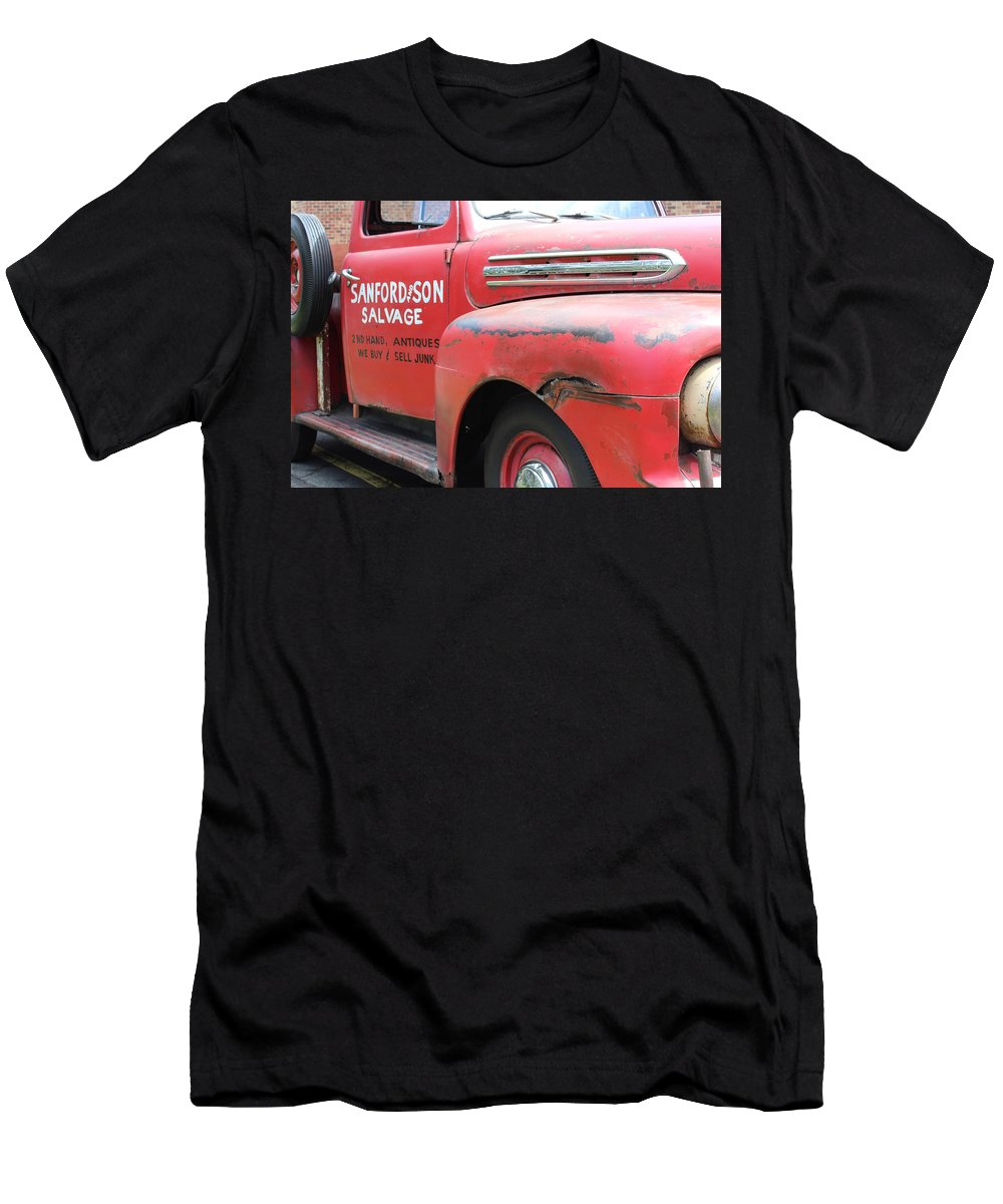Automotive Men's T-Shirt (Athletic Fit) featuring the photograph Movie Car by Todd Dunham