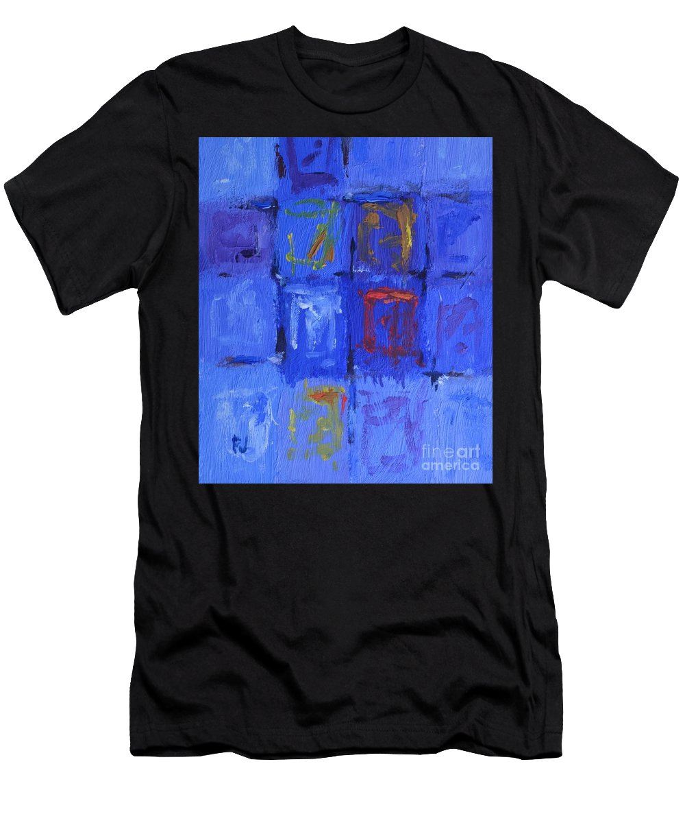 Moving On Men's T-Shirt (Athletic Fit) featuring the painting Moving On by Philip Jones