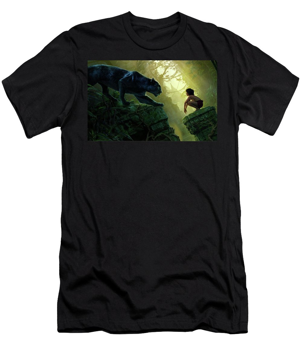 Mowgli Bagheera Black Panther The Jungle Book Men's T-Shirt (Athletic Fit)