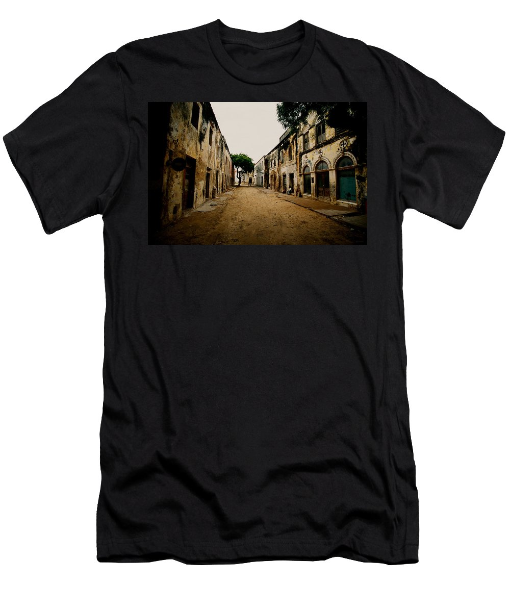 Africa Men's T-Shirt (Athletic Fit) featuring the photograph Mozambique Slave Trade Islands by Julian Wicksteed
