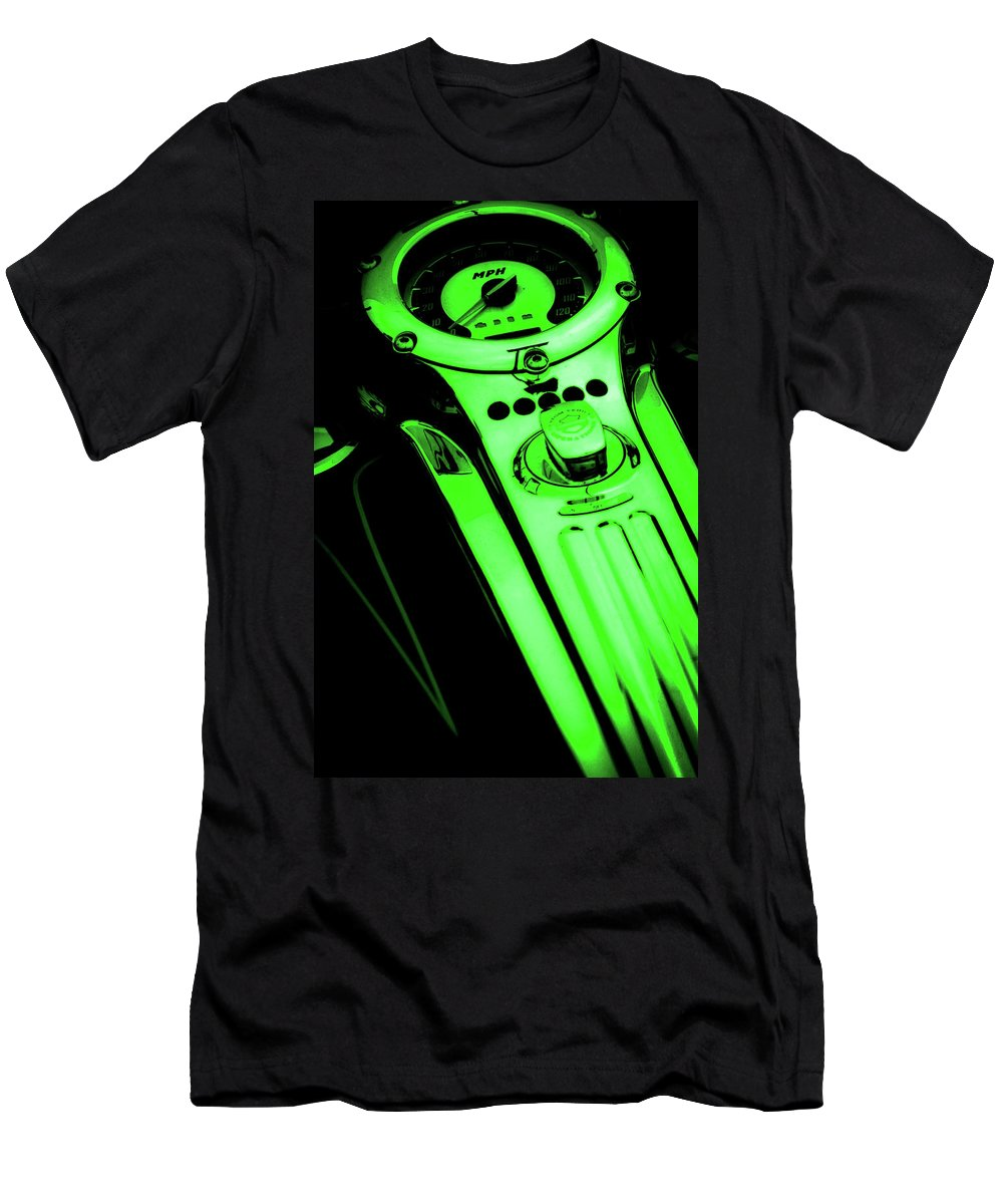 Mph Green Men's T-Shirt (Athletic Fit) featuring the photograph Mph Green 5485 G_4 by Steven Ward
