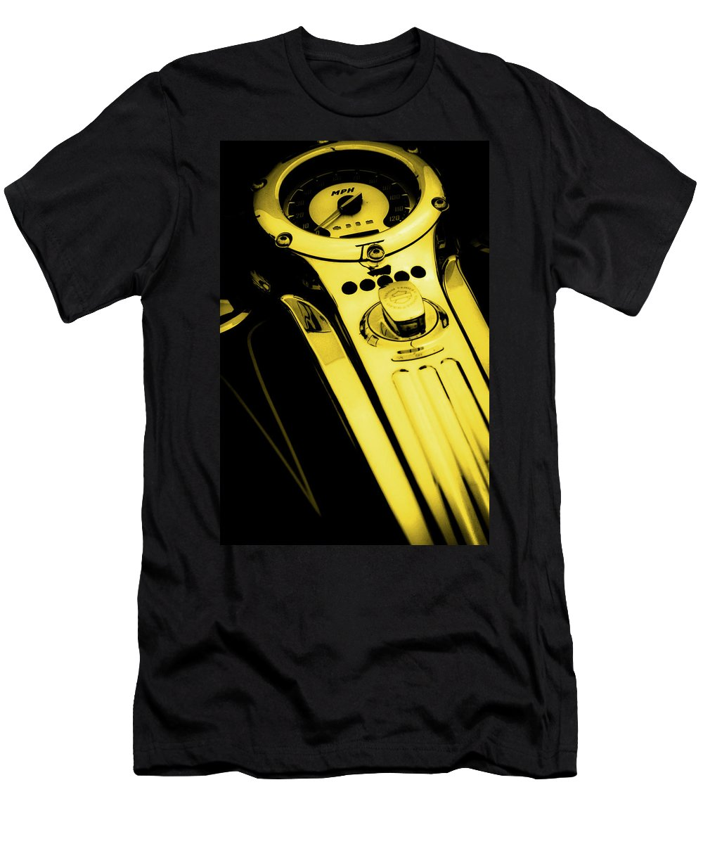 Mph Yellow Men's T-Shirt (Athletic Fit) featuring the photograph Mph Yellow 5485 G_3 by Steven Ward