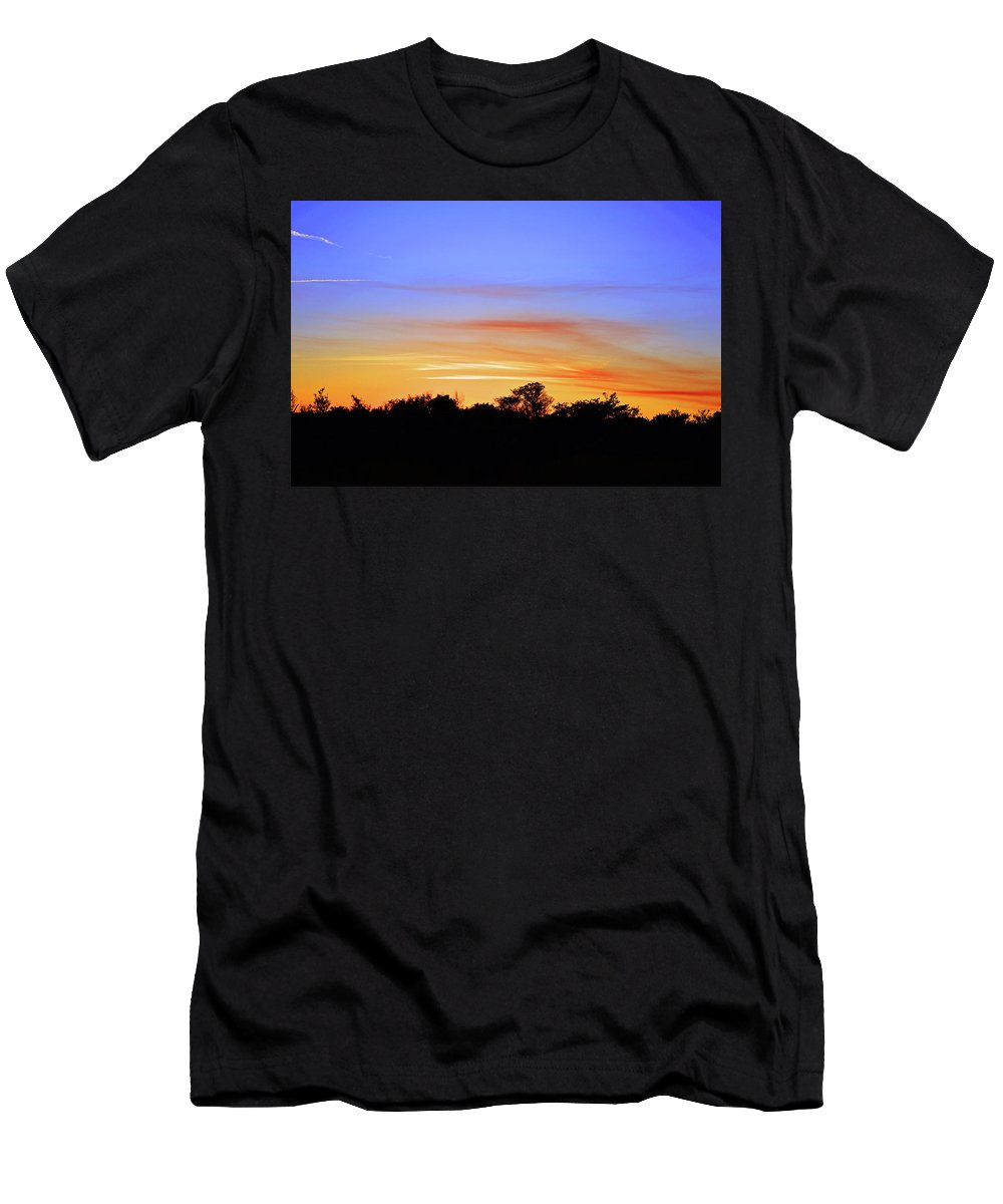 Nature Men's T-Shirt (Athletic Fit) featuring the photograph Mr Blue Sky by Ken Figurski