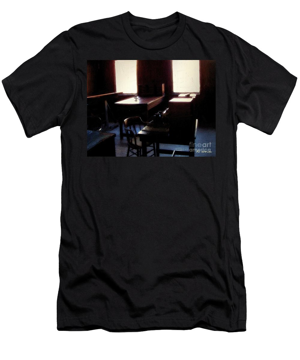 Antiques Men's T-Shirt (Athletic Fit) featuring the painting Mr. Edison Has Left The Building by RC DeWinter