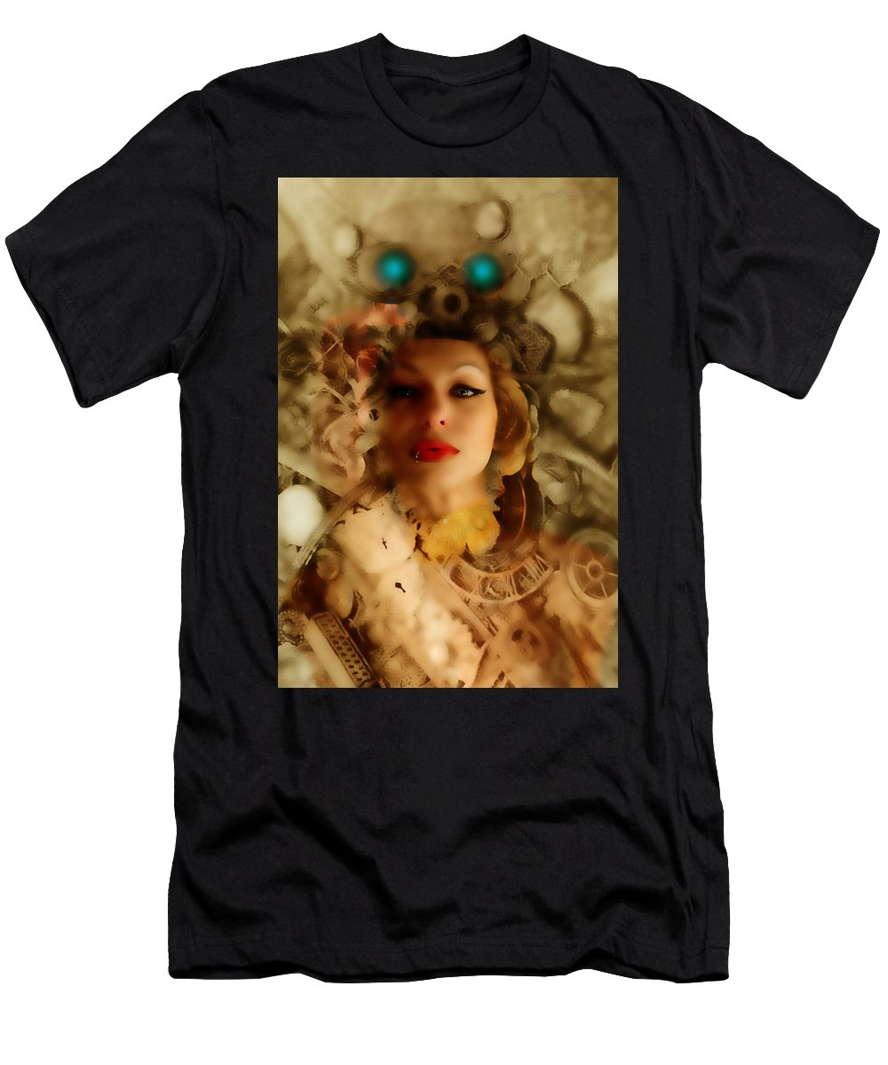 Steampunk Men's T-Shirt (Athletic Fit) featuring the photograph Ms Lady Melissa by Bill Munster