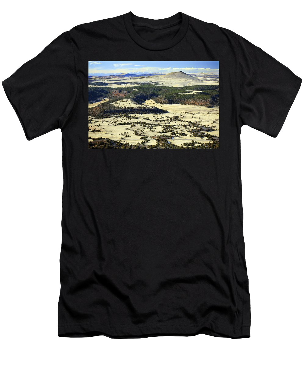 Mt. Capulin New Mexico Men's T-Shirt (Athletic Fit) featuring the photograph Mt. Capulin New Mexico by Marilyn Hunt