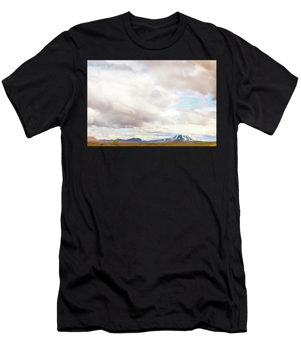 Hekla Men's T-Shirt (Athletic Fit) featuring the photograph Mt Hekla by Sigrun Saemundsdottir