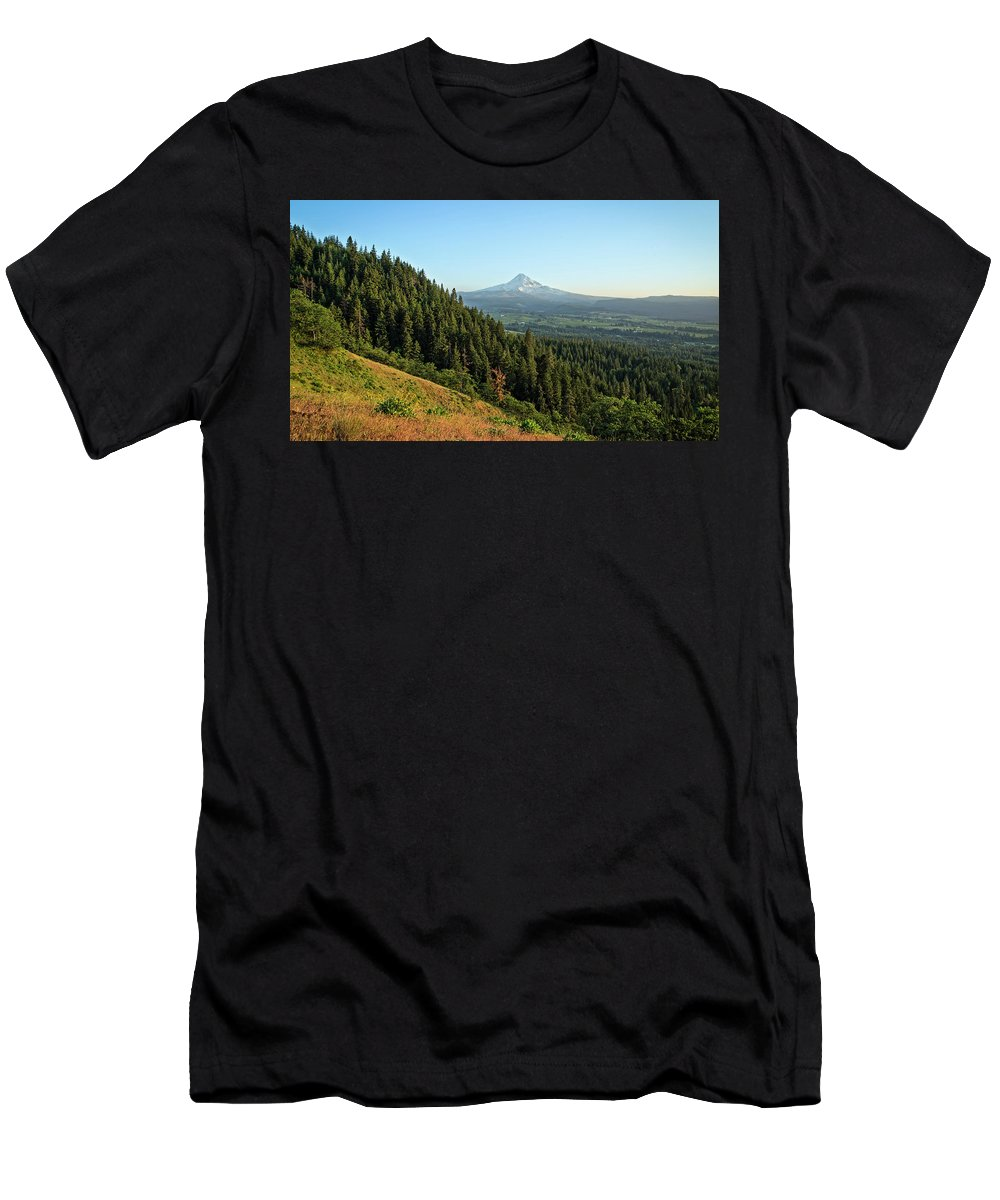 Mt. Hood Men's T-Shirt (Athletic Fit) featuring the photograph Mt Hood In The Distance by Joe Miller
