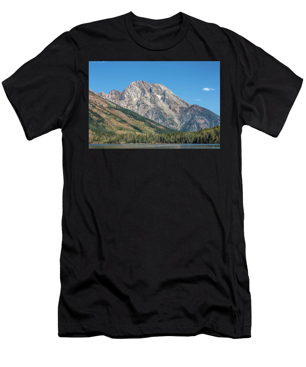 America Men's T-Shirt (Athletic Fit) featuring the photograph Mt Moran At The Grand Tetons by John M Bailey