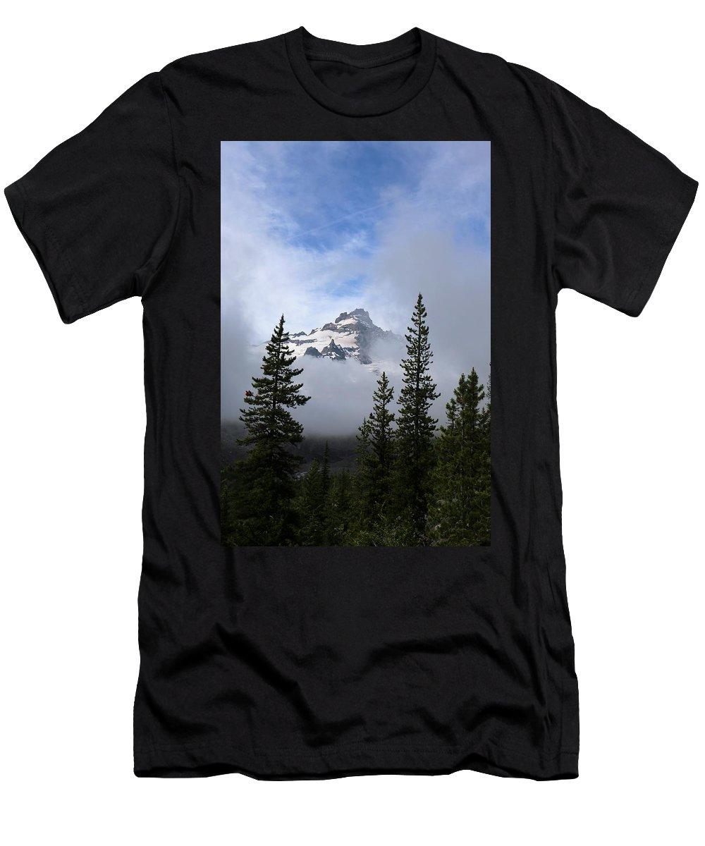 Landscape Men's T-Shirt (Athletic Fit) featuring the photograph Mt. Rainer by Lisa Spero