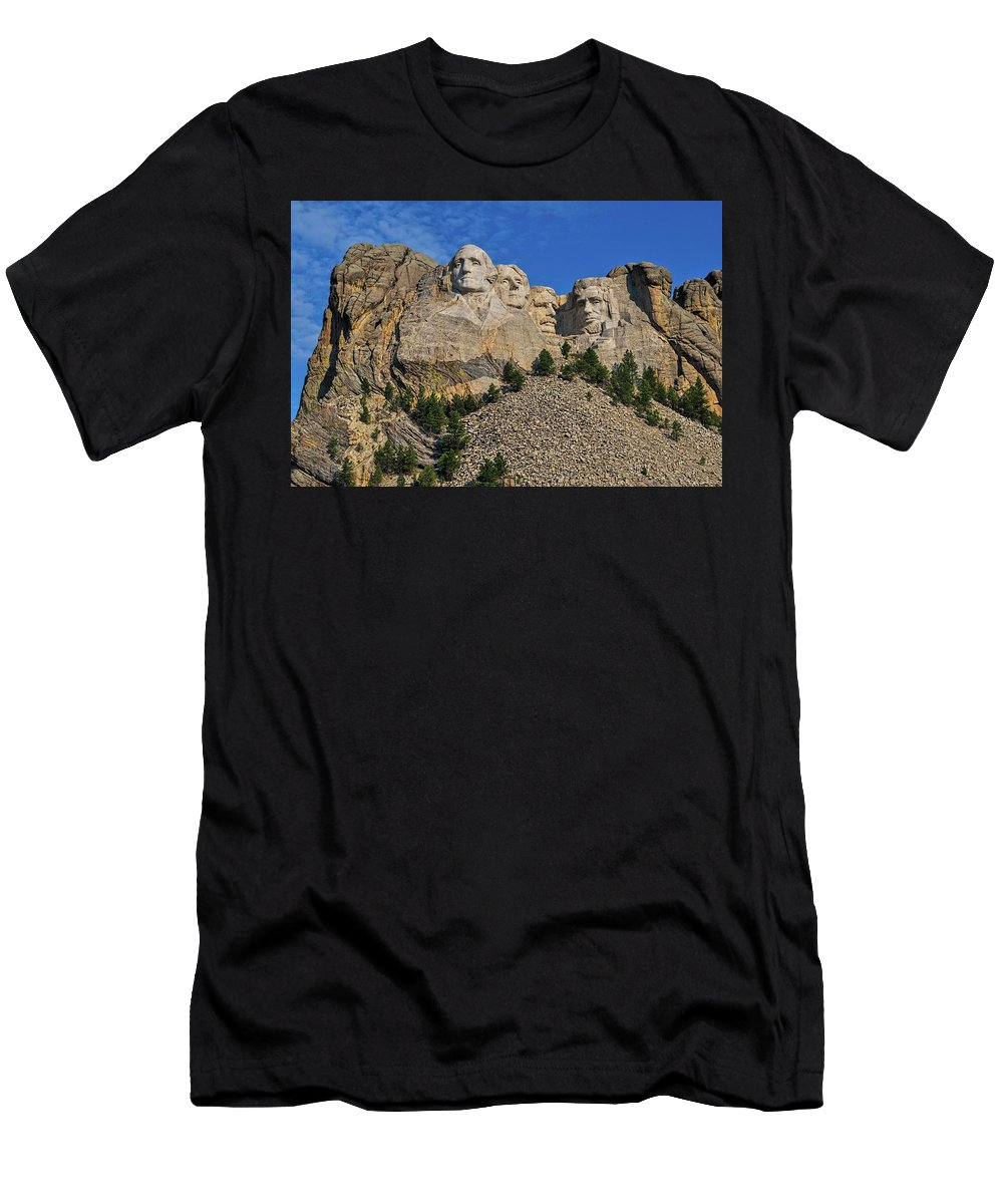 Mount Rushmore Men's T-Shirt (Athletic Fit) featuring the photograph Mount Rushmore-2 by Thomas J Rhodes