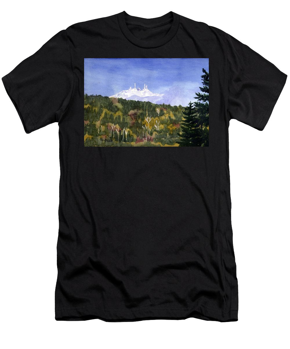 Landscape Men's T-Shirt (Athletic Fit) featuring the painting Almost Mystical by Sharon E Allen