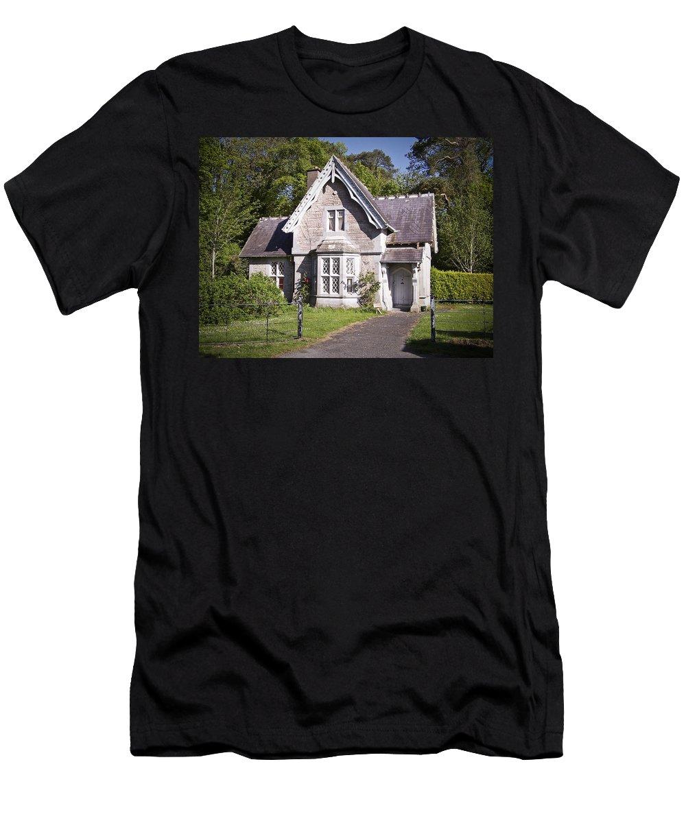 Irish Men's T-Shirt (Athletic Fit) featuring the photograph Muckross Cottage Killarney Ireland by Teresa Mucha