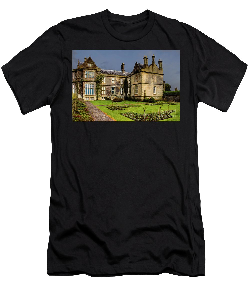 Muckross House Men's T-Shirt (Athletic Fit) featuring the photograph Muckross House by Amy Sorvillo