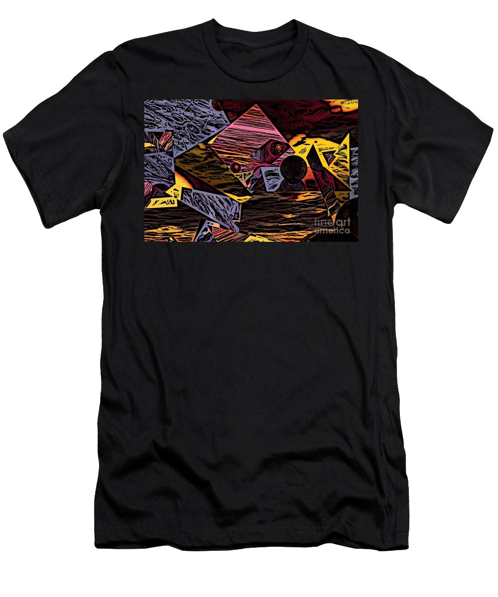 Men's T-Shirt (Athletic Fit) featuring the digital art Multiverse II by David Lane