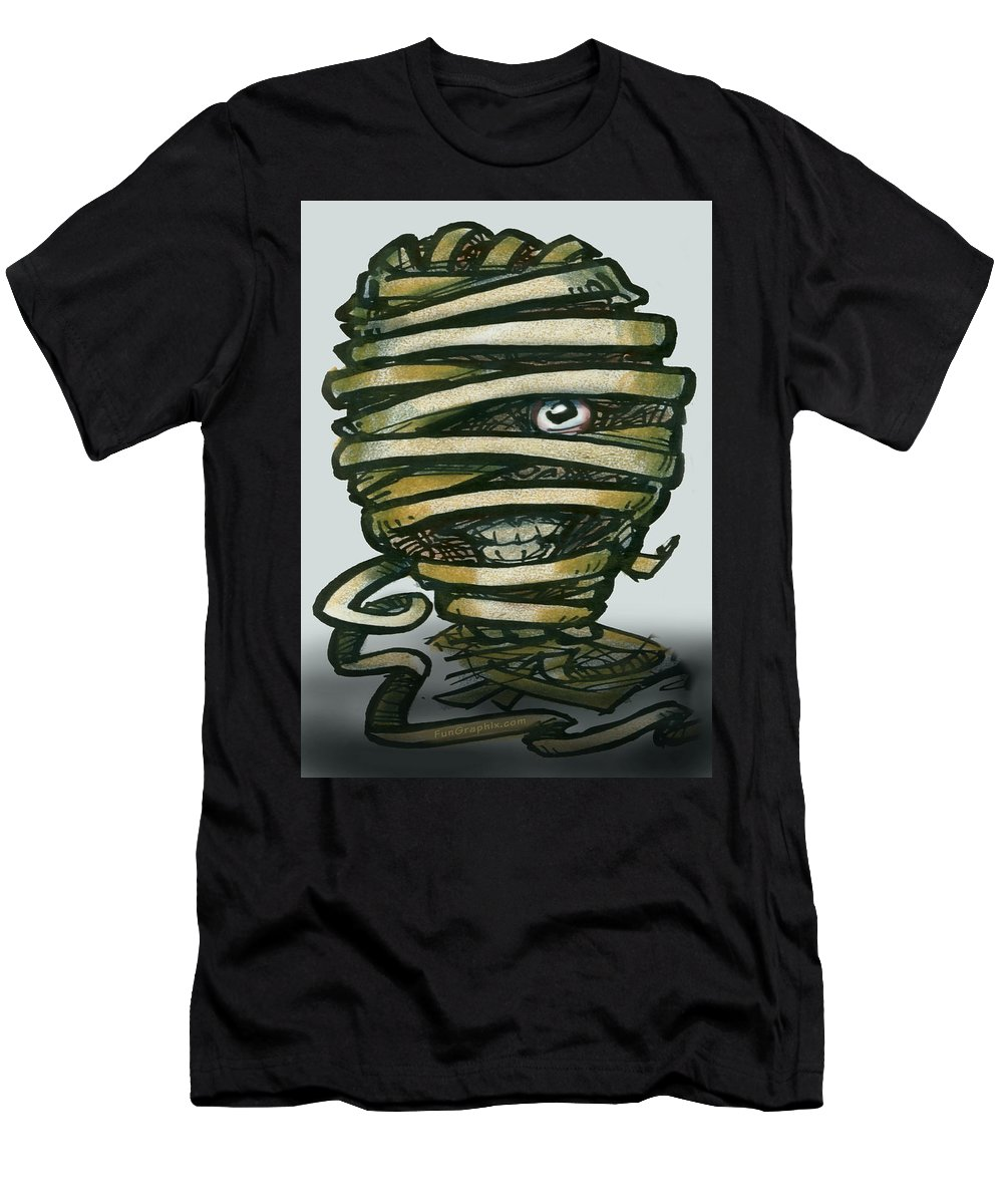 Mummy Men's T-Shirt (Athletic Fit) featuring the greeting card Mummy by Kevin Middleton