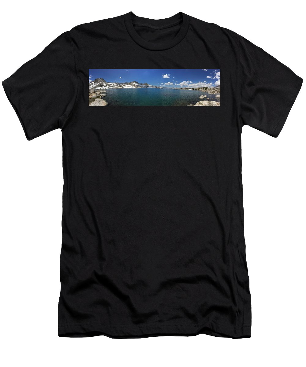 Beauty Men's T-Shirt (Athletic Fit) featuring the photograph Muriel Lake by Travers Morgan