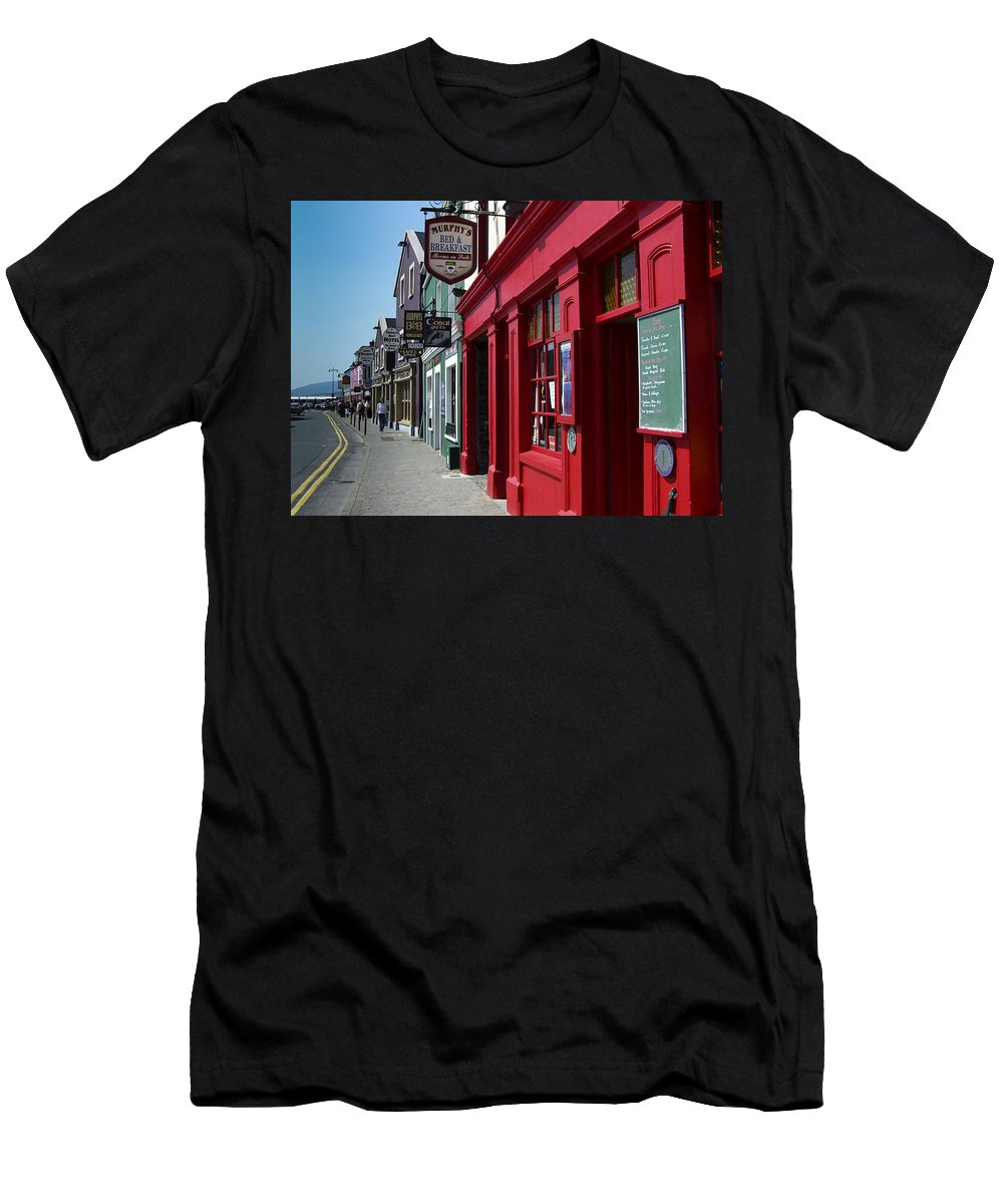 Irish Men's T-Shirt (Athletic Fit) featuring the photograph Murphys Bed And Breakfast Dingle Ireland by Teresa Mucha