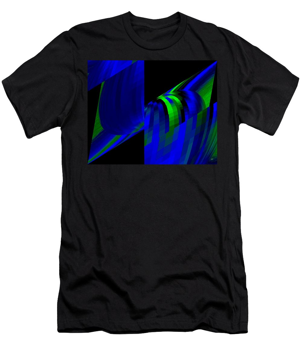 Abstract Men's T-Shirt (Athletic Fit) featuring the digital art Muse 6 by Will Borden