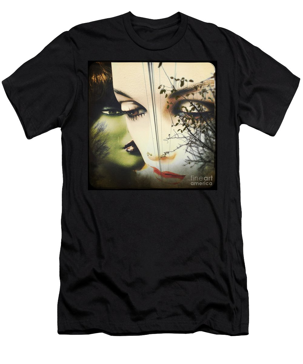 Collage Men's T-Shirt (Athletic Fit) featuring the pyrography Muses by Colleen VT