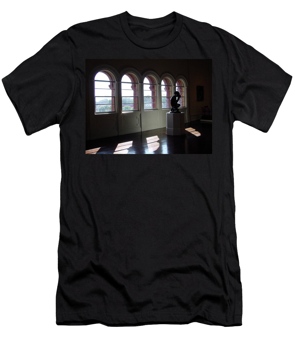 Sunlight Men's T-Shirt (Athletic Fit) featuring the photograph Museum Light by Shirley Heyn