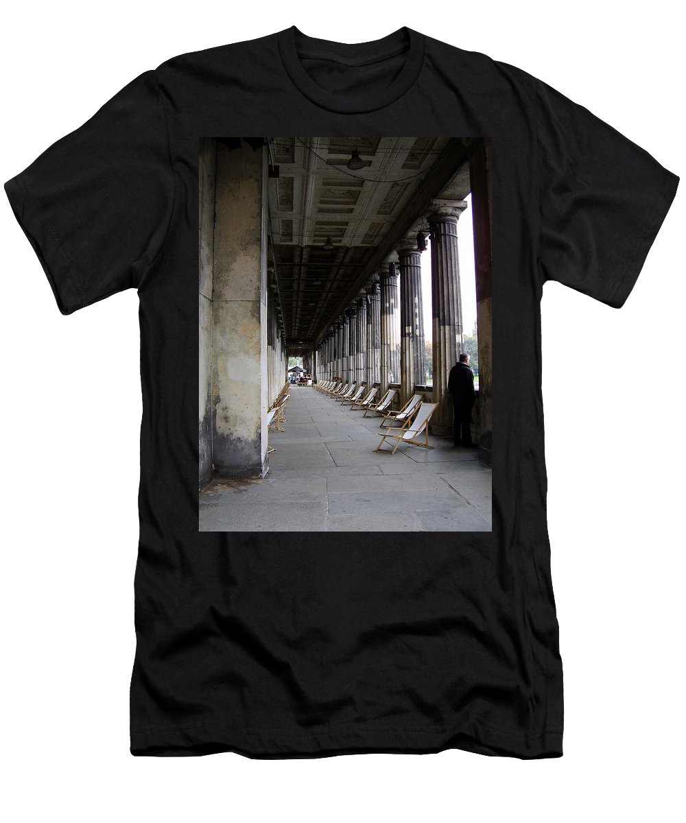 Museumsinsel Men's T-Shirt (Athletic Fit) featuring the photograph Museumsinsel by Flavia Westerwelle