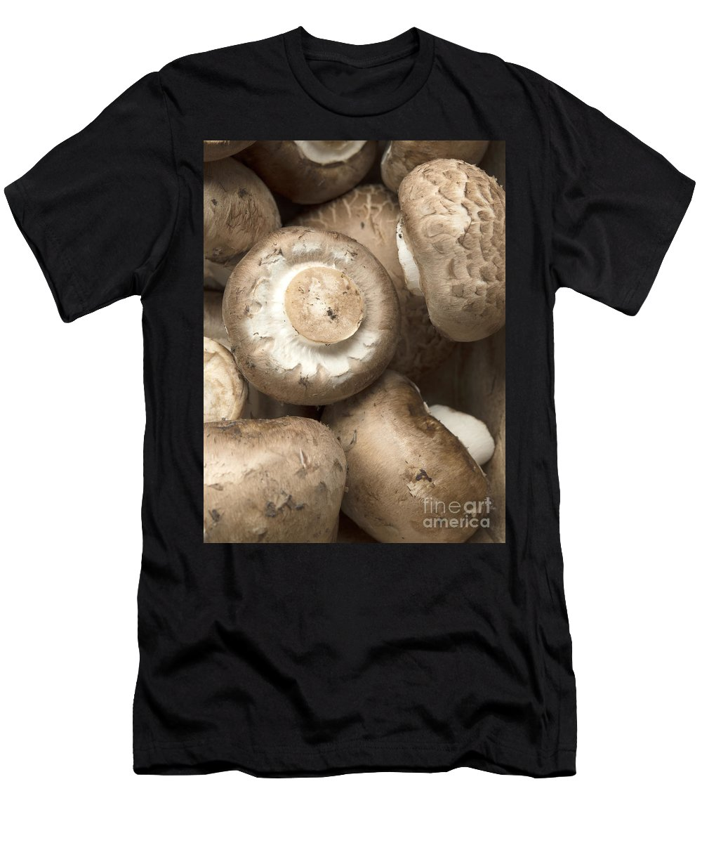 Mushroom Men's T-Shirt (Athletic Fit) featuring the photograph Mushrooms Abstract Closeup by Michelle Himes