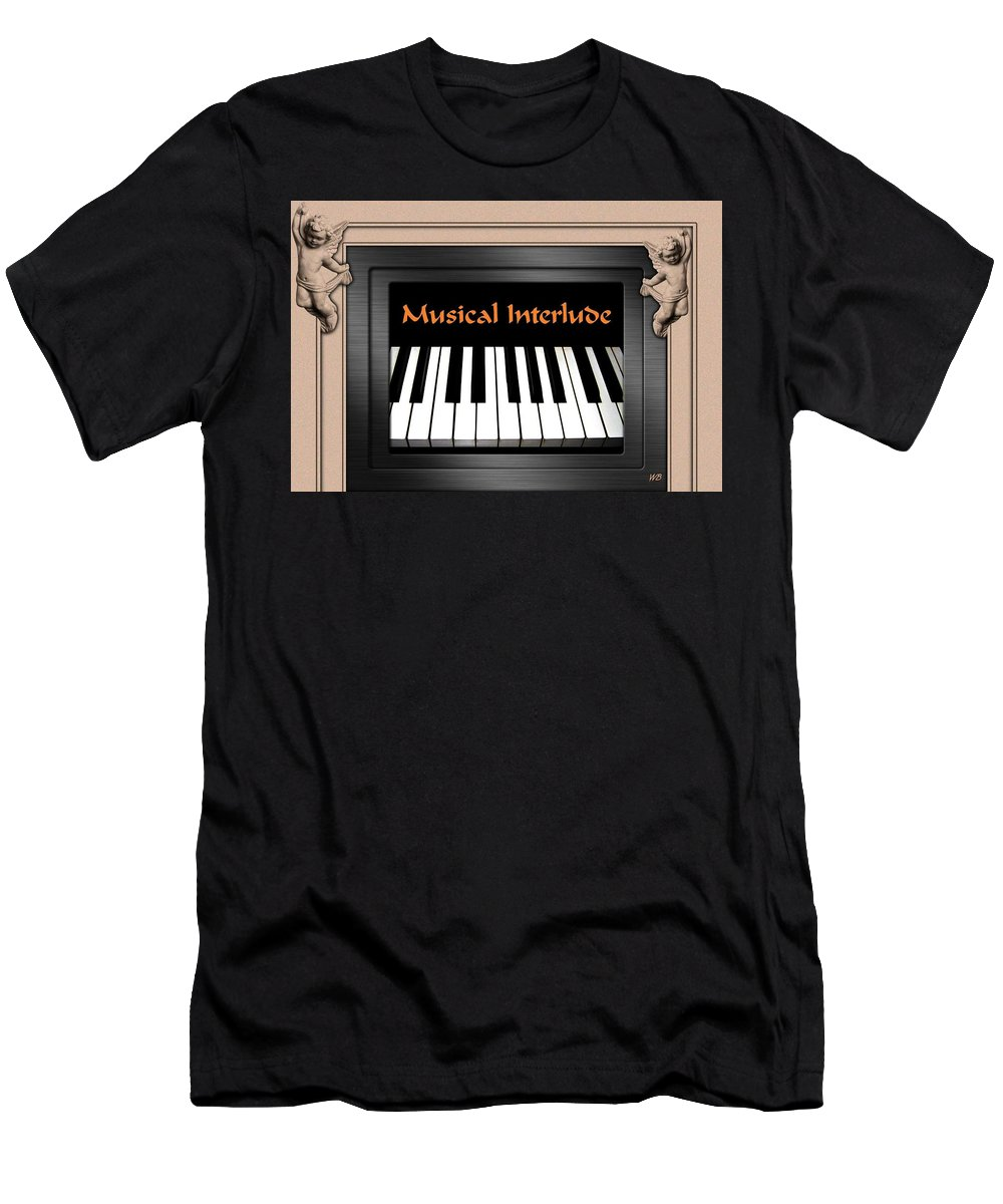 Architecture Men's T-Shirt (Athletic Fit) featuring the digital art Musical Interlude by Will Borden