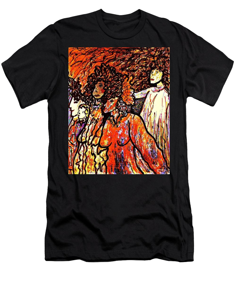 Figurative Art Men's T-Shirt (Athletic Fit) featuring the painting Musical Recital by Natalie Holland
