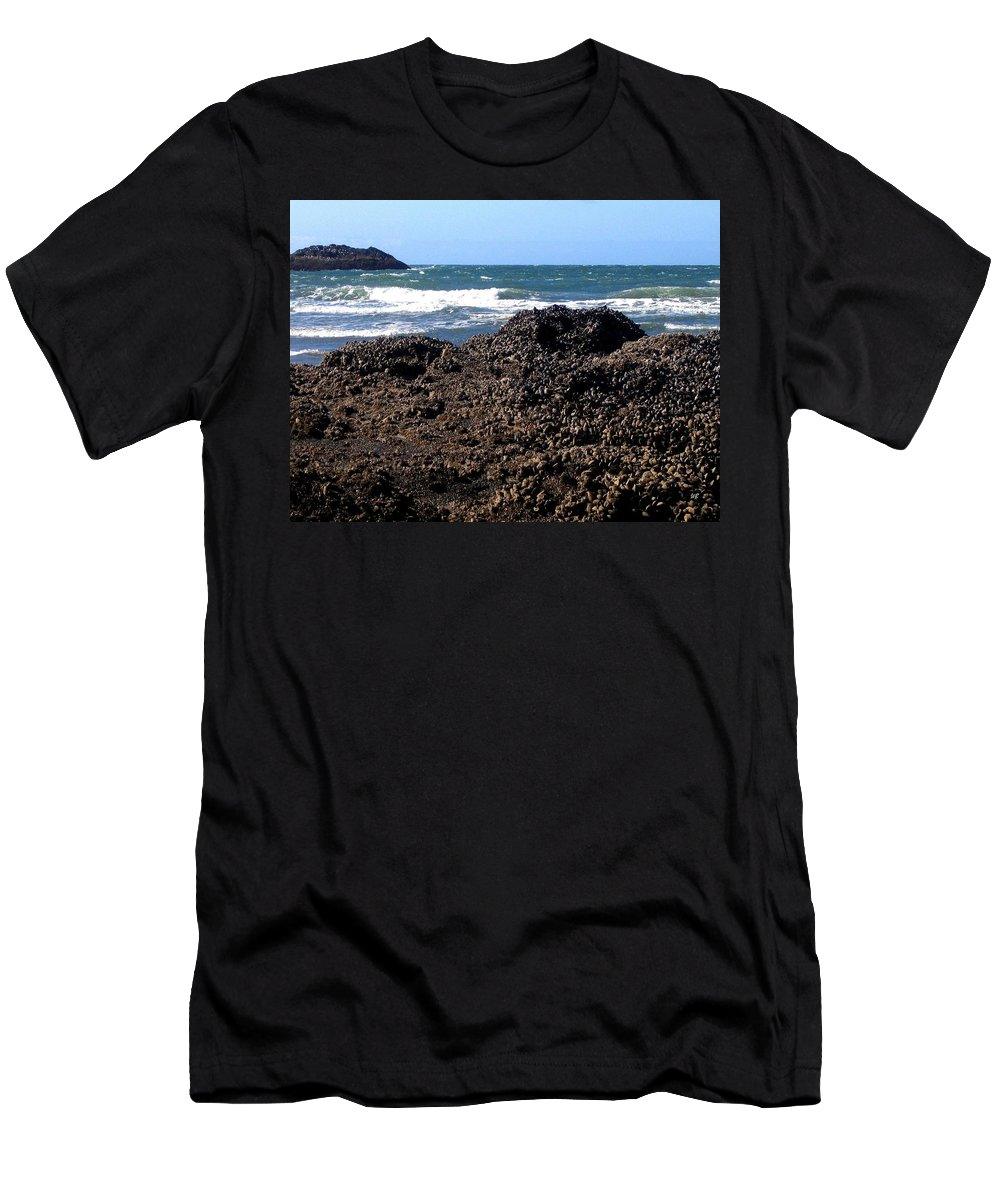 Mussels Men's T-Shirt (Athletic Fit) featuring the photograph Mussels by Will Borden
