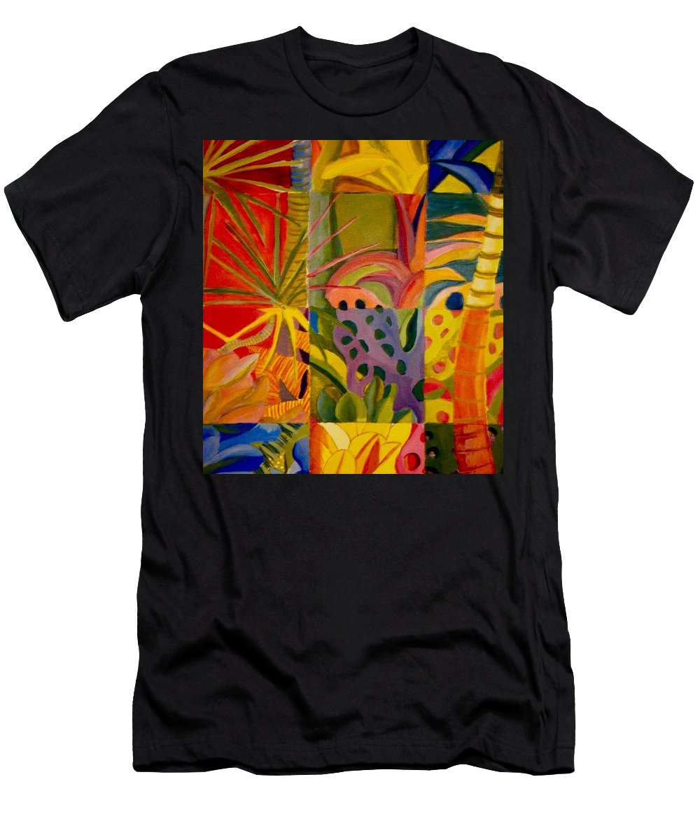 Beach Men's T-Shirt (Athletic Fit) featuring the painting My Back Yard by Jamie Laniakea Clark