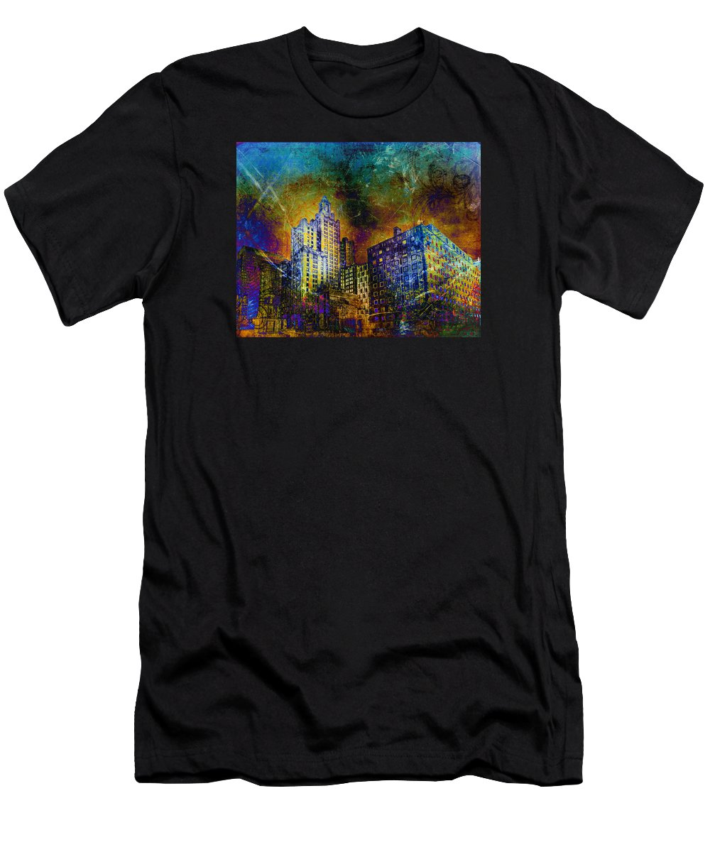 Providence Men's T-Shirt (Athletic Fit) featuring the photograph My City Providence by Jerri Moon