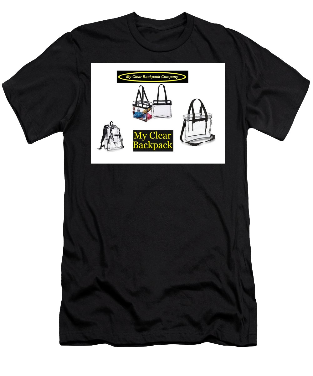 See Through Arena Bag Men's T-Shirt (Athletic Fit) featuring the jewelry My Clear Backpack by See Through Bags