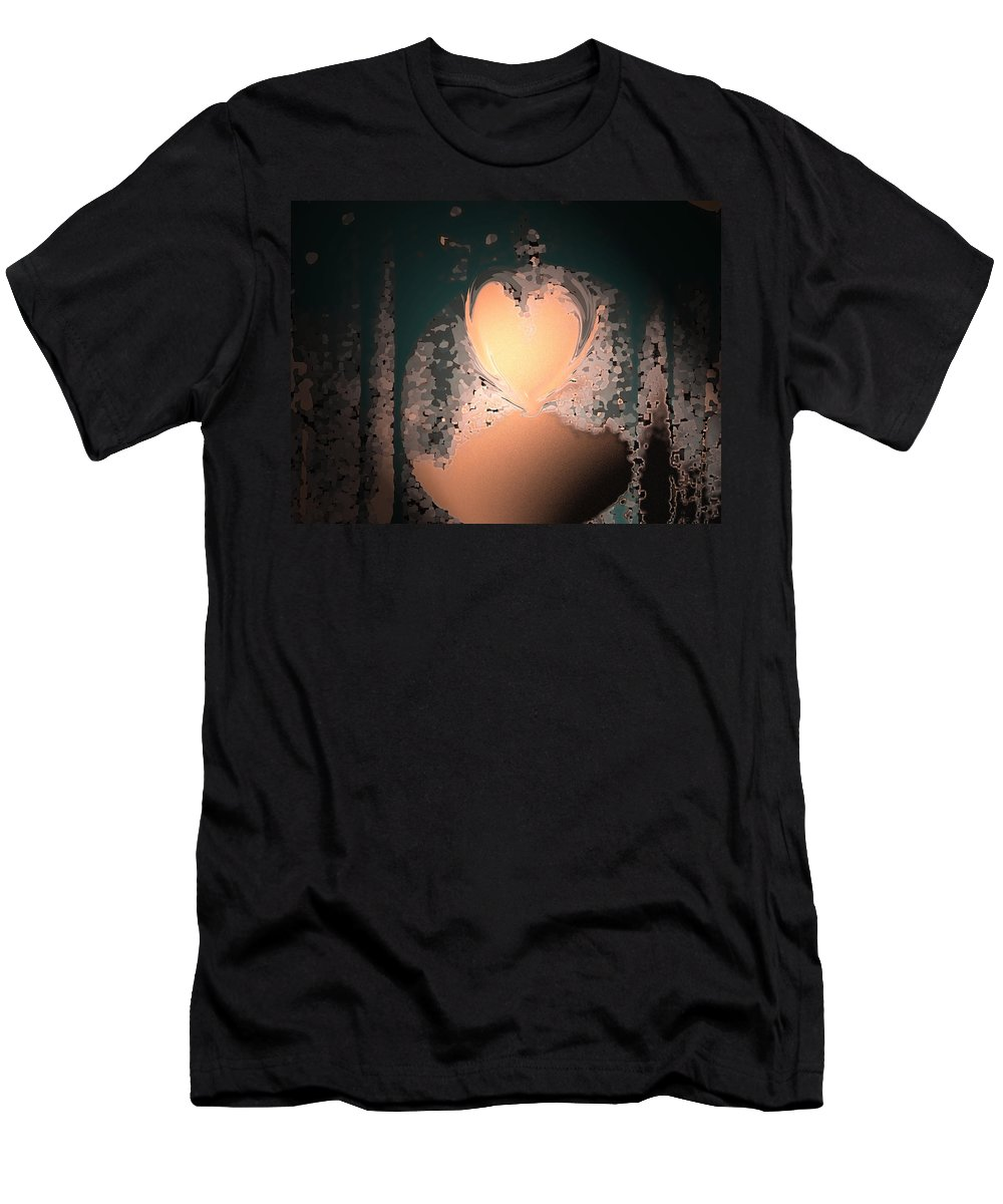Abstract Men's T-Shirt (Athletic Fit) featuring the photograph My Heart Is On The Moon by Lenore Senior