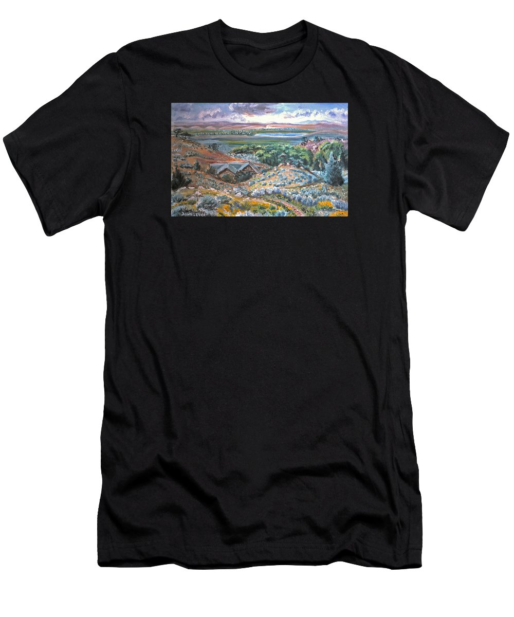 Landscape Men's T-Shirt (Athletic Fit) featuring the painting My Home Looking West by Dawn Senior-Trask