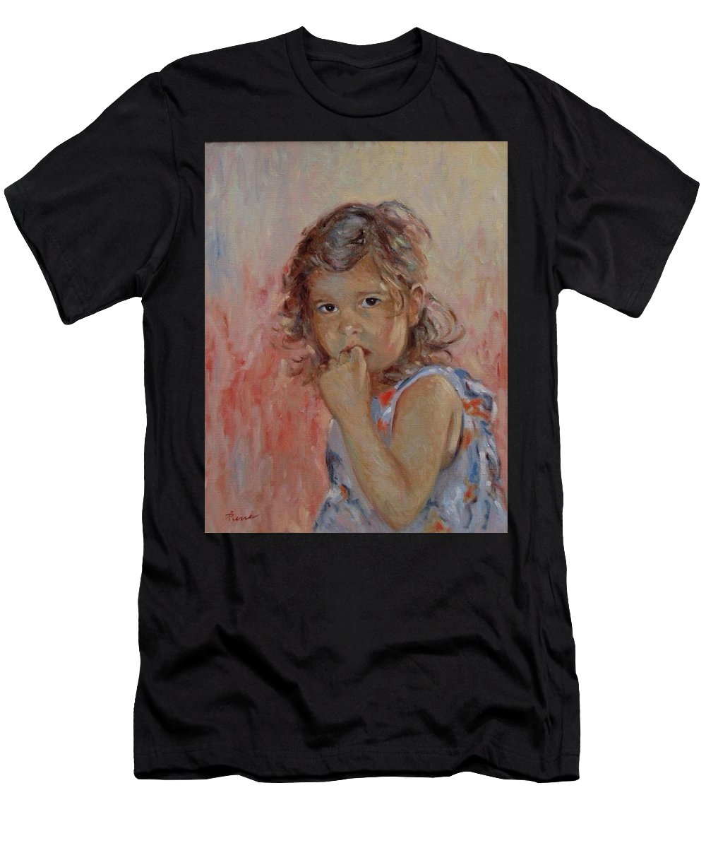 Girls Men's T-Shirt (Athletic Fit) featuring the painting My Little Baby by Pierre Van Dijk