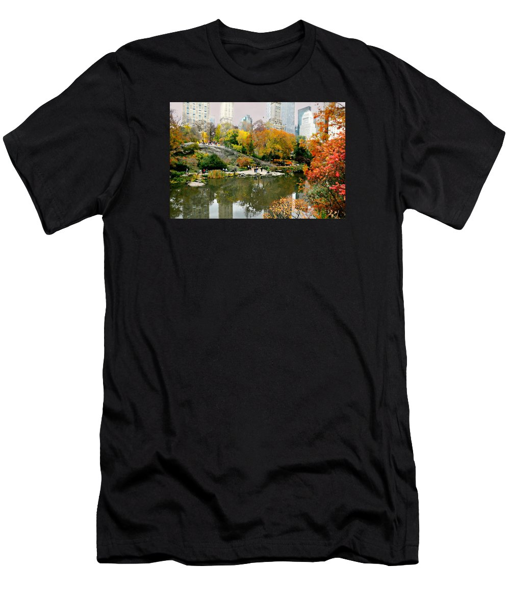 Central Park Men's T-Shirt (Athletic Fit) featuring the photograph My Manhattan by Diana Angstadt