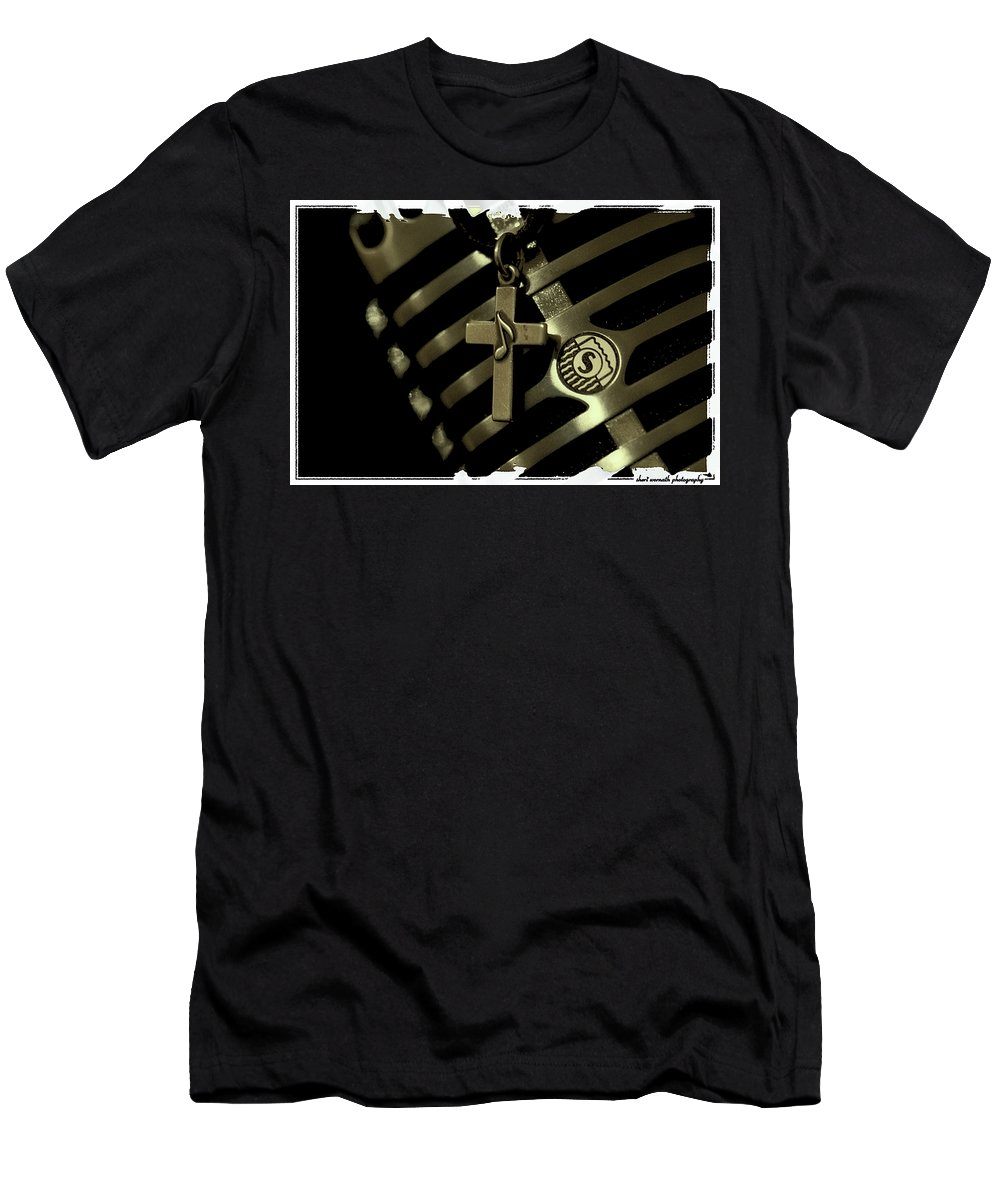 Black & White Men's T-Shirt (Athletic Fit) featuring the photograph My Passion by Sheri Bartoszek