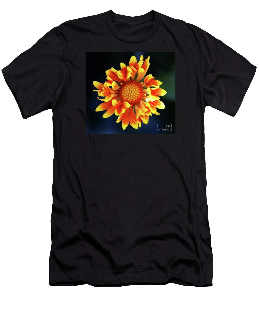 Flower Men's T-Shirt (Athletic Fit) featuring the photograph My Sunrise And You by Linda Shafer