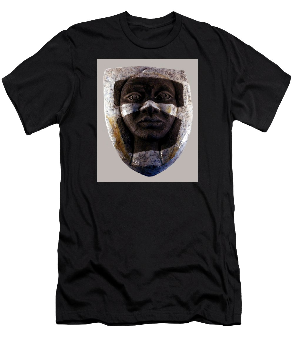 Ceramic Men's T-Shirt (Athletic Fit) featuring the relief My Veils I by Madalena Lobao-Tello