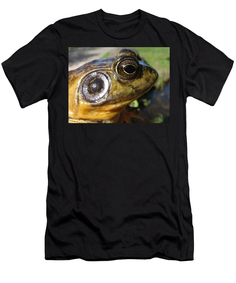 Frog Men's T-Shirt (Athletic Fit) featuring the photograph My What Big Eyes You Have by Donna Blackhall