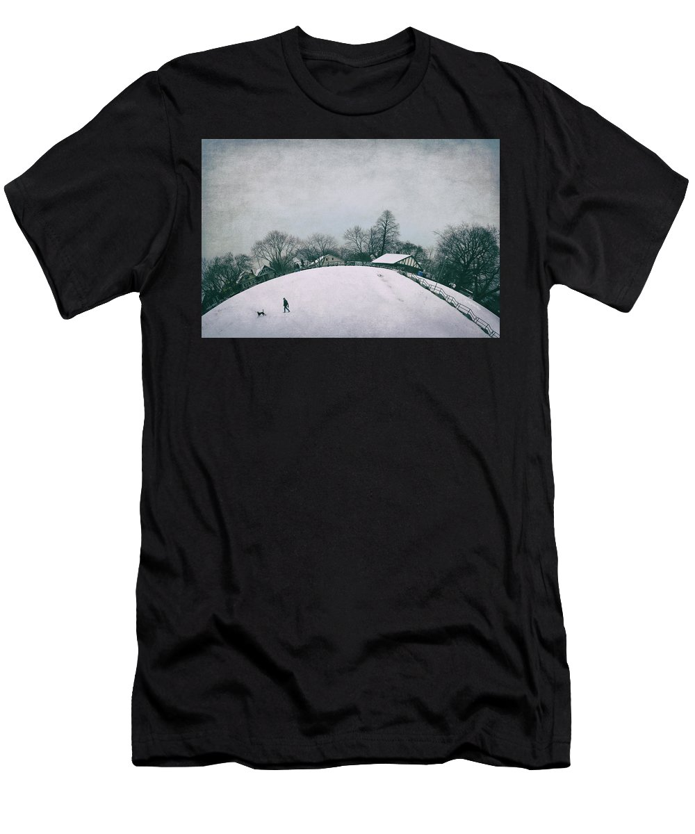 Toronto Men's T-Shirt (Athletic Fit) featuring the photograph My Wintry Homey Snowy Planet by Katrin Shumakov
