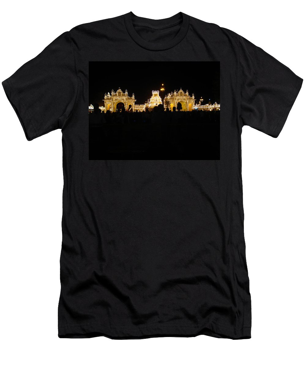 Mysore Men's T-Shirt (Athletic Fit) featuring the photograph Mysore Palace 2 by Usha Shantharam