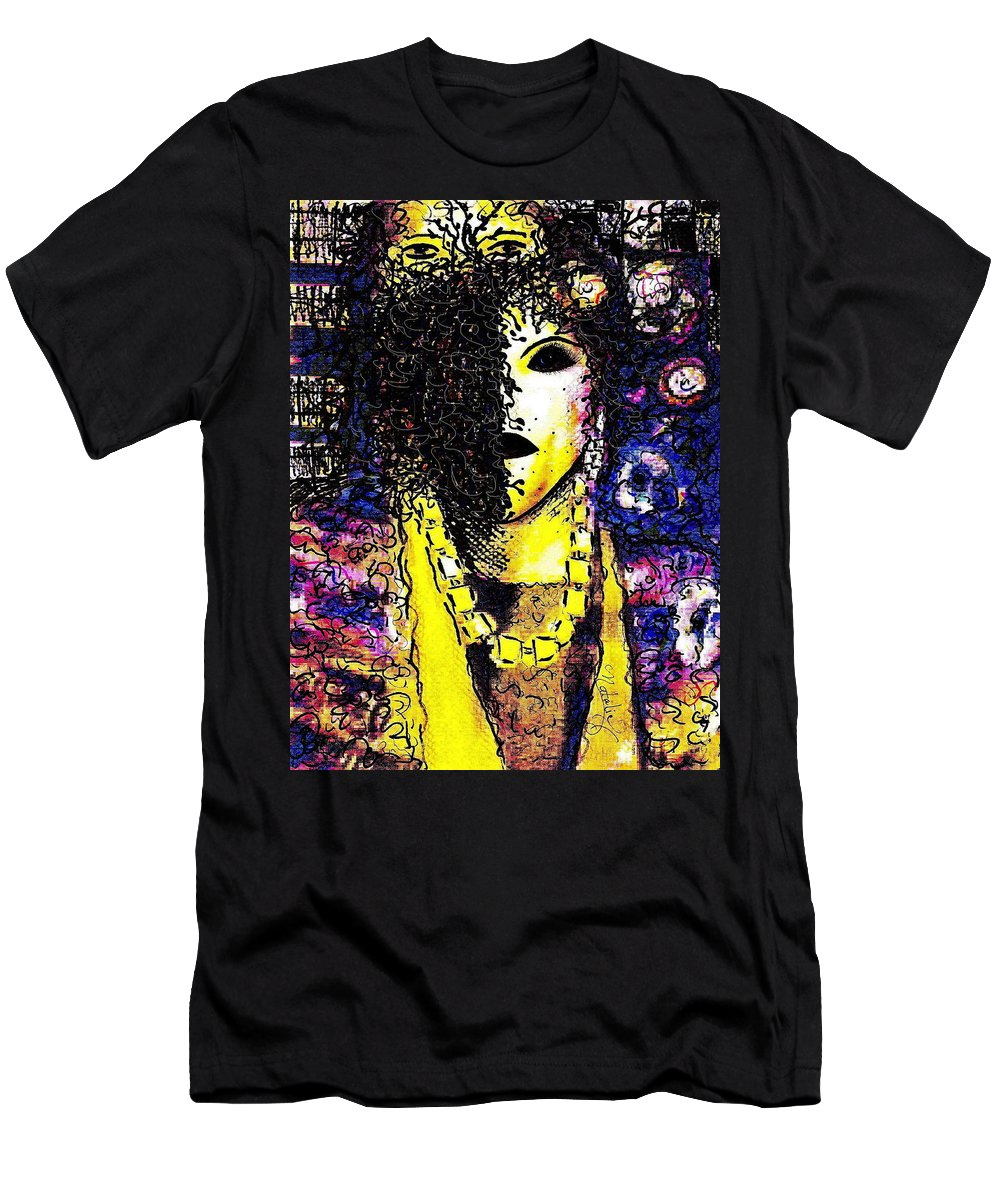 Woman Men's T-Shirt (Athletic Fit) featuring the painting Mysterious Encounter by Natalie Holland