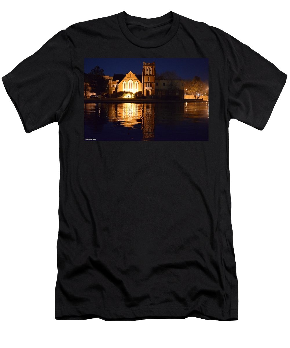 Landscape Men's T-Shirt (Athletic Fit) featuring the photograph Mysterious by WiLLiam Kearney