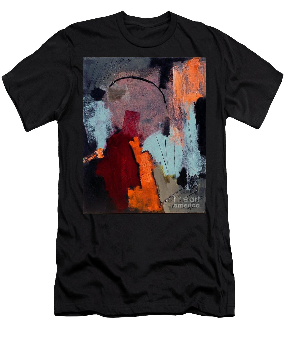 Abstract Acrylic Painting Men's T-Shirt (Athletic Fit) featuring the painting Mystic Dawn by Donna Frost