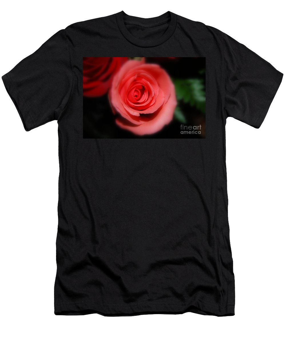 Rose Men's T-Shirt (Athletic Fit) featuring the photograph Mystic Pink by Agnes Lankus