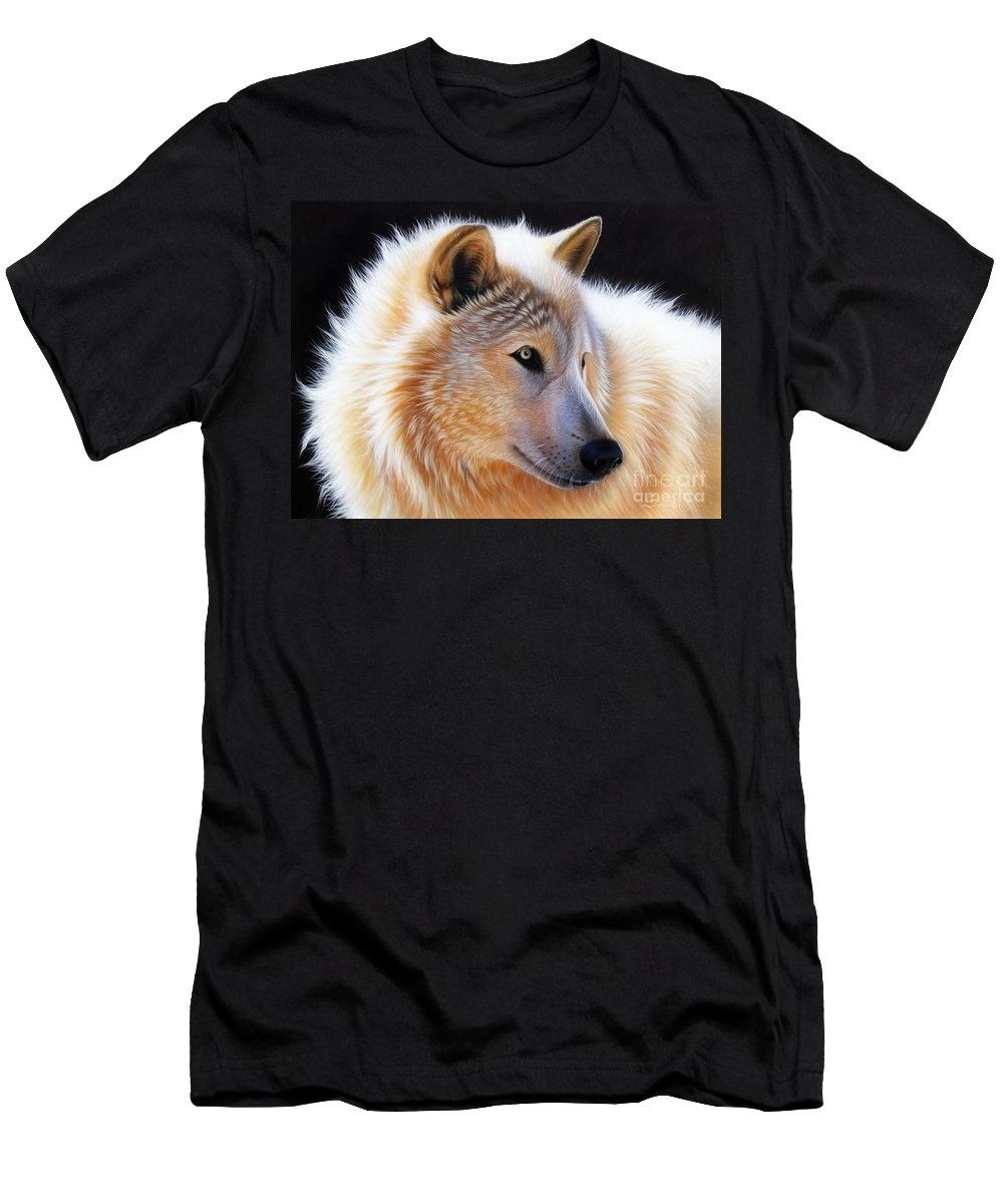 Acrylic Men's T-Shirt (Athletic Fit) featuring the painting Nala by Sandi Baker